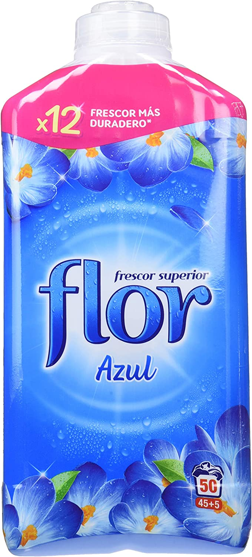 Flor Azul Suavizante Concentrado - 53 dosis - Pack de 5 - Total 265 dosis