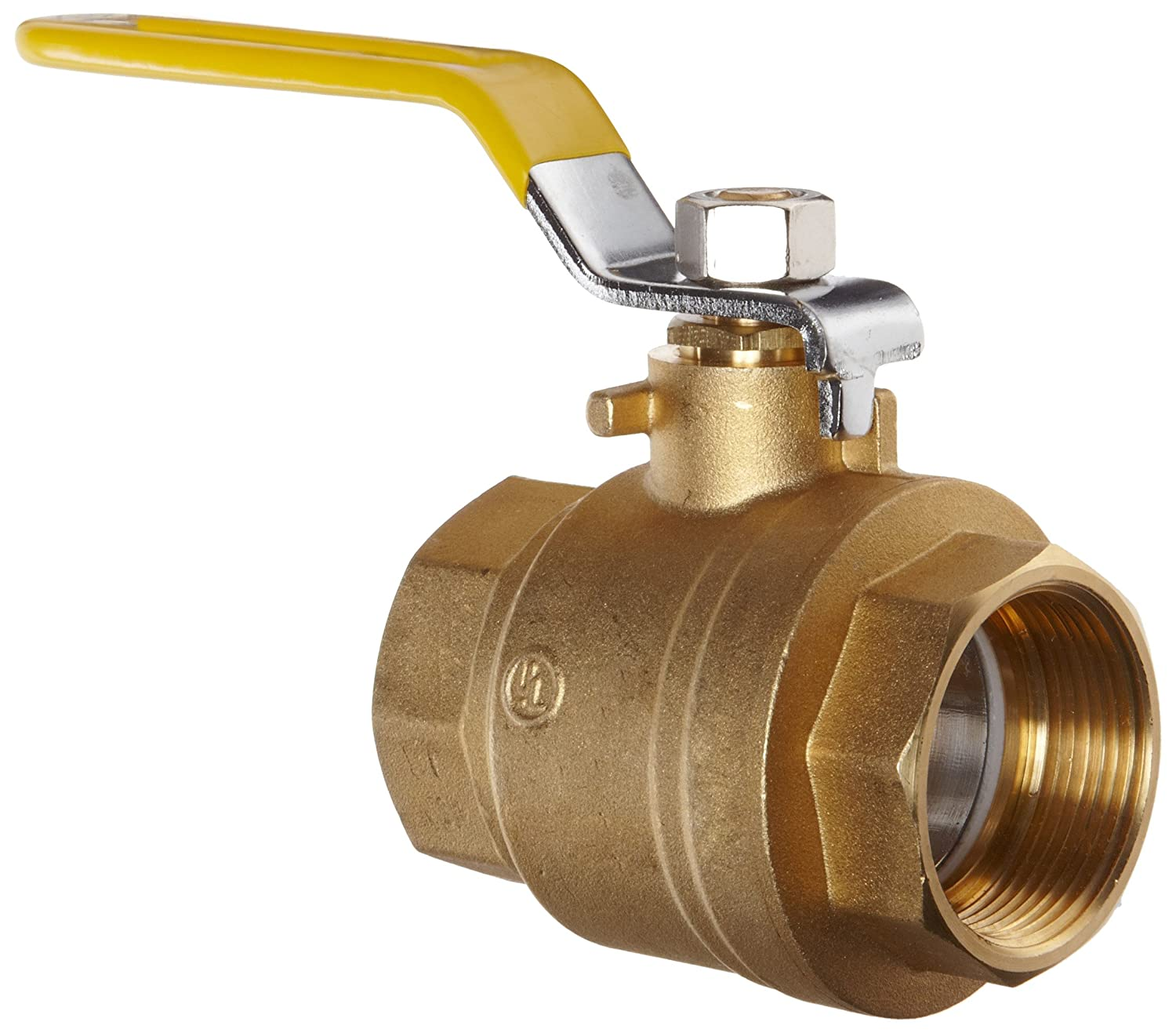Apollo 94A Series Brass Ball Valve 1 NPT Female Lever Inline Two Piece