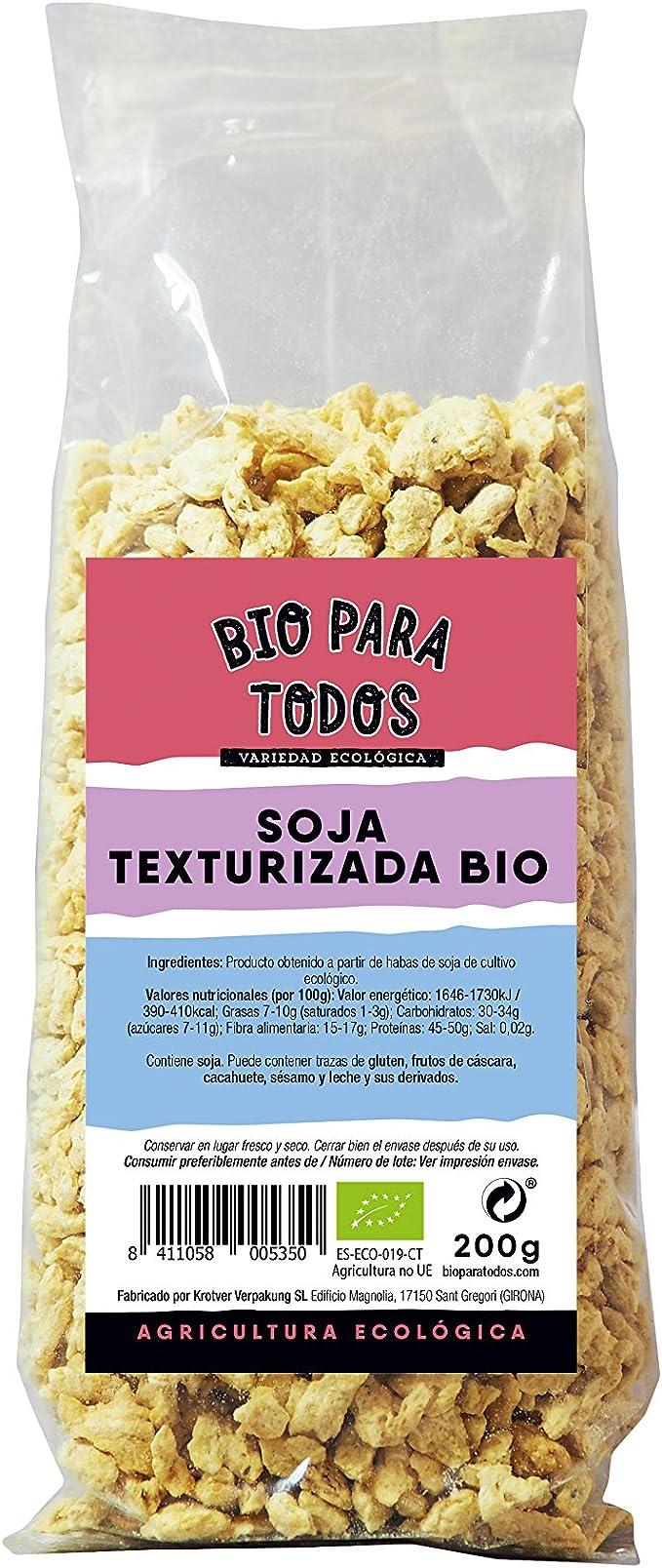Bio para todos Soja Texturizada Media - 5 Paquetes de 200 gr ...