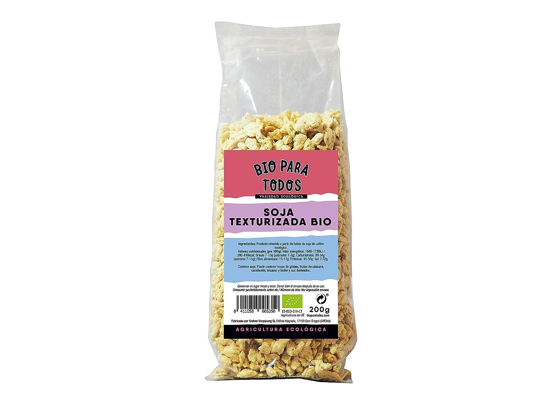 Bio para todos Soja Texturizada Media - 5 Paquetes de 200 gr - Total: 1000 gr: Amazon.es: Alimentación y bebidas