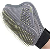 Pet Grooming Glove, Dog Horse and Cat Hair Removal Gloves, Gentle Efficient Pet Grooming Glovesfor Shedding, Bathing, Massaging & Hair Removal (1 Pcs)