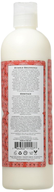 Nubian Heritage Lotion, Raw Shea and Myrrh, 13 Fluid Ounce - 4 Packs