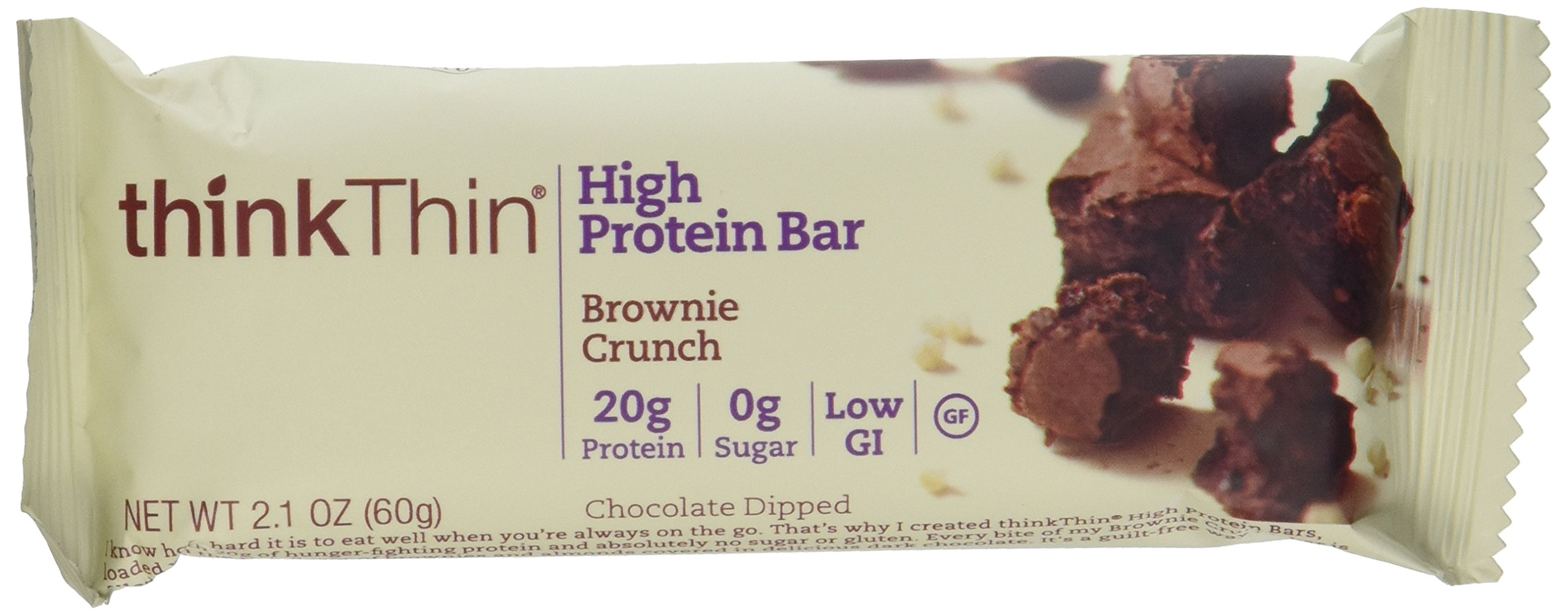 Thinkthin Brownie Crunch (Pack of 10), 2 Pack