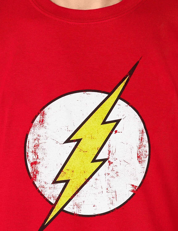 8cb28d87d30 DC Comics - Camiseta de Flash con cuello redondo de manga corta para hombre:  Amazon.es: Ropa y accesorios