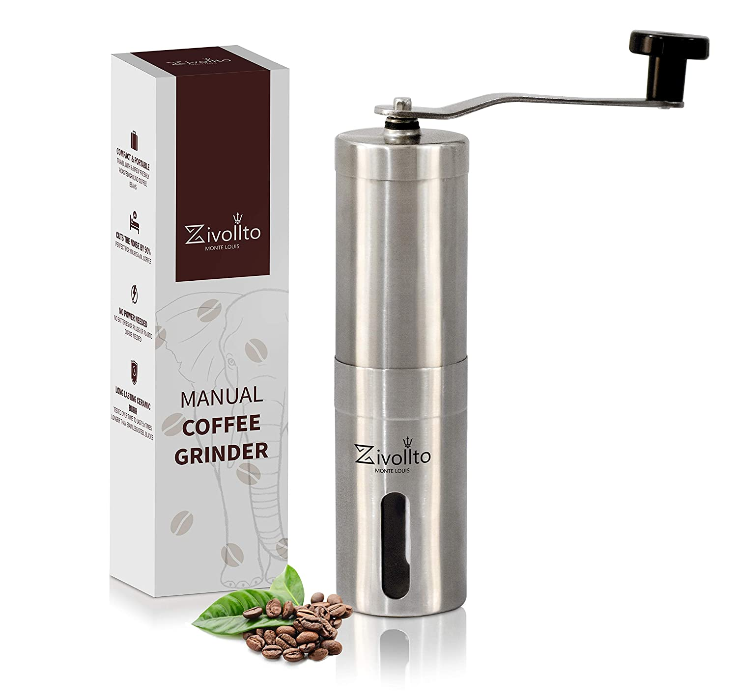 Amazon com: Manual Coffee Grinder by Zivollto - Whole bean