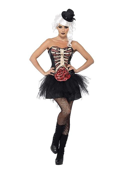 SMIFFYS Costume Carnevale Halloween Corsetto Burlesque - horror sexy donna 6540726a3952