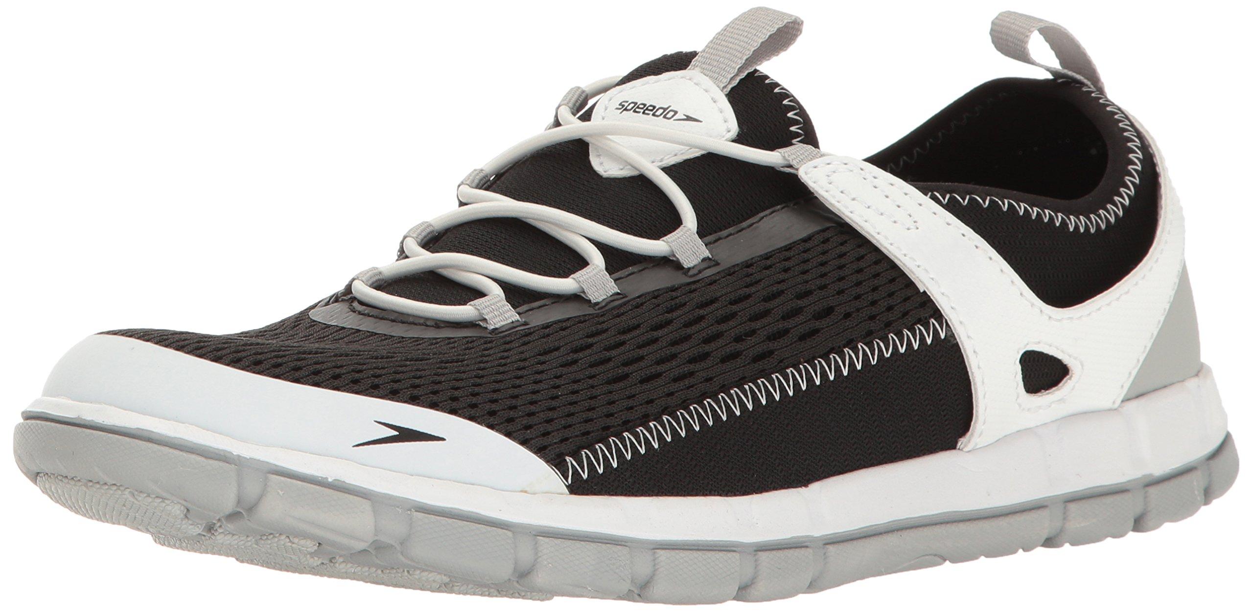 Speedo Women's The Wake Athletic Water Shoe, Black/White, 8 C/D US