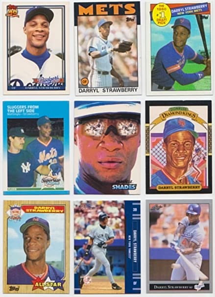 Darryl Strawberry 50 Different Baseball Cards Featuring