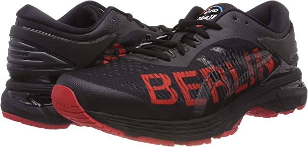 bienestar Oponerse a extraño  Asics Gel-kayano 25 Berlin, Men's Running Shoes, Black (Black/Classic Red  001), 8.5 UK (43.5 EU): Amazon.co.uk: Shoes & Bags