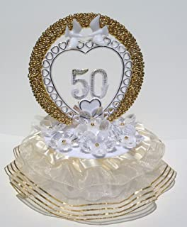 Amazon.com: 50th Wedding Anniversary Cake Topper: Kitchen & Dining