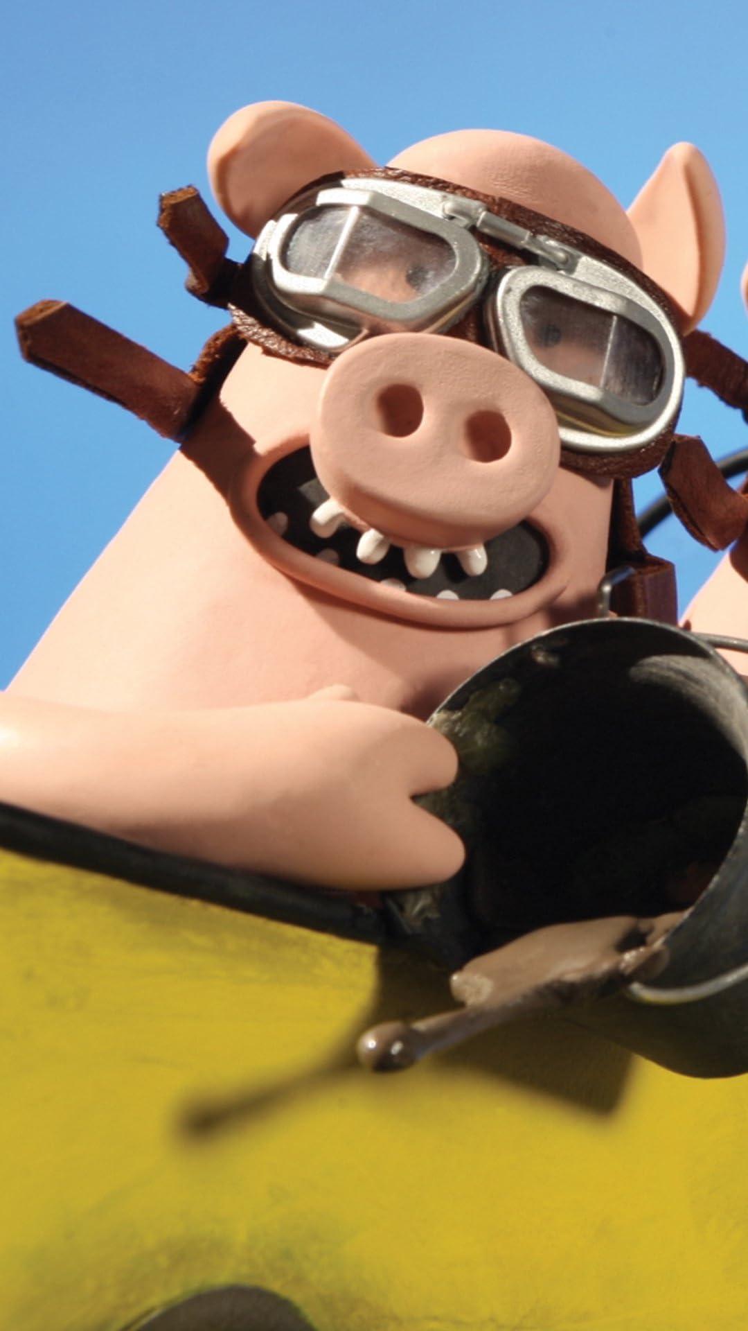 ひつじのショーン 3匹のいたずらブタ (The Naughty Pigs) フルHD(1080×1920)スマホ壁紙/待受画像