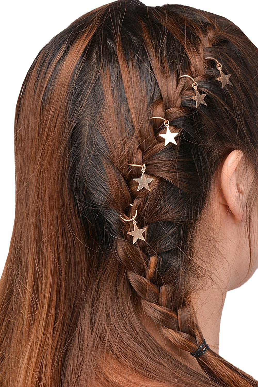 YiyiLai Lot de 5 Pince /à Cheveux Tresse DIY Bijoux Fantaisie Barrette Cheveu Accessoire Voyage Casual