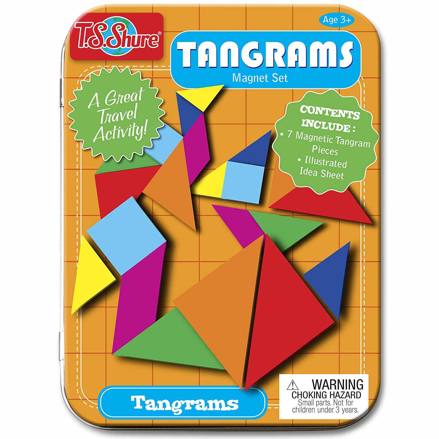 DIY Magnetic Travel Tangram Set from In Our Pond