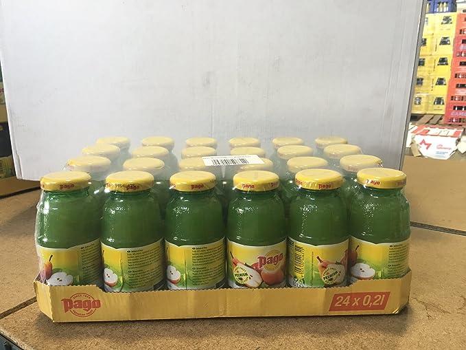 Pago zumo de pera cl 20 x 24 botellas de vidrio de jugo de fruta