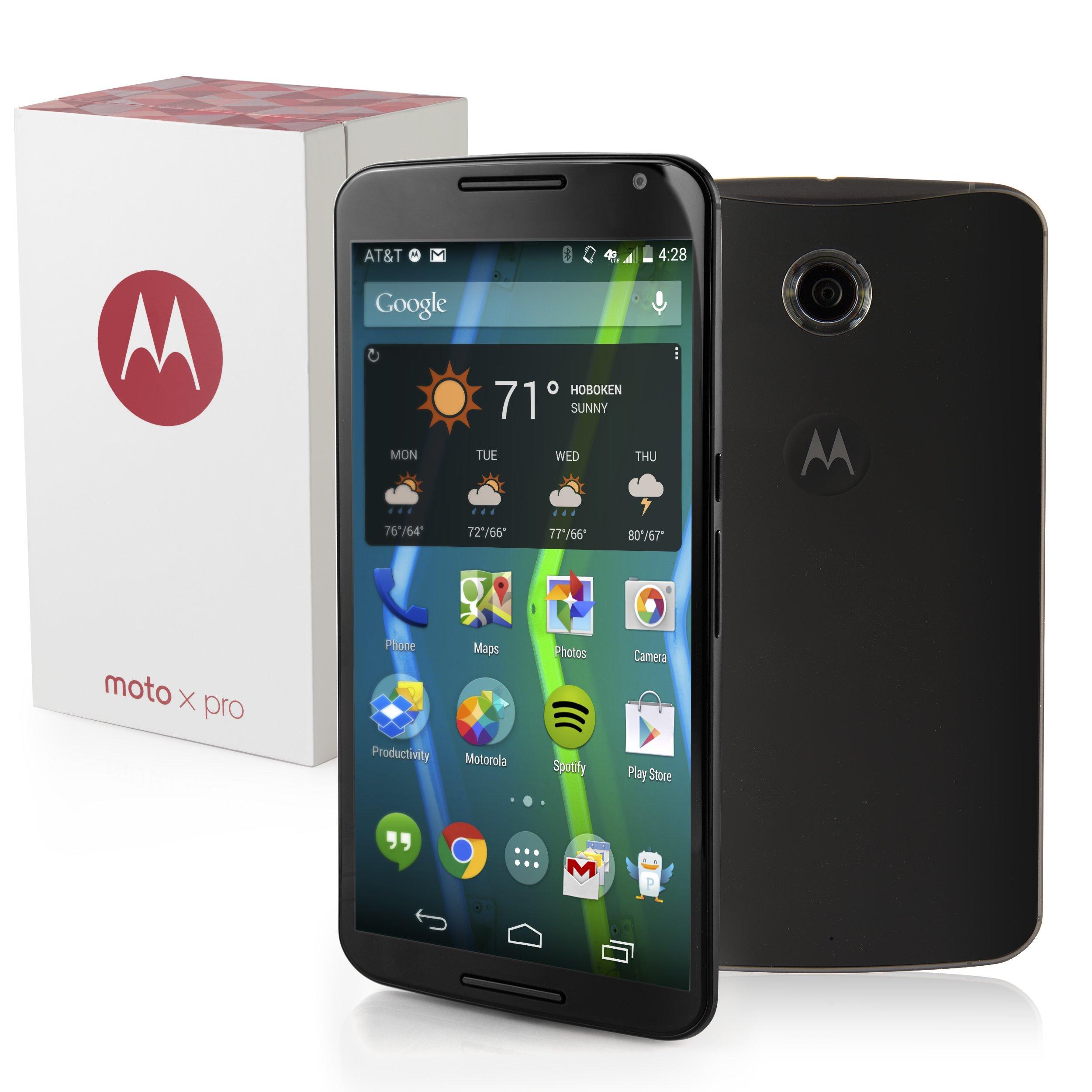 Motorola Moto X Pro 64GB 6.3'' 4G LTE Android Cell Phone GSM Unlocked International Version - Black