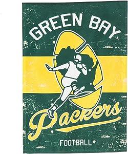 Team Sports America Green Bay Packers NFL Vintage Linen Garden Flag - 12.5