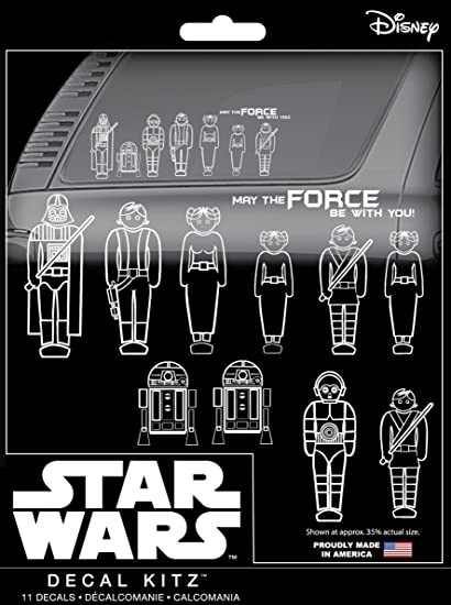 CHROMA 45020 Star Wars Family 11 Piece Decal Kit