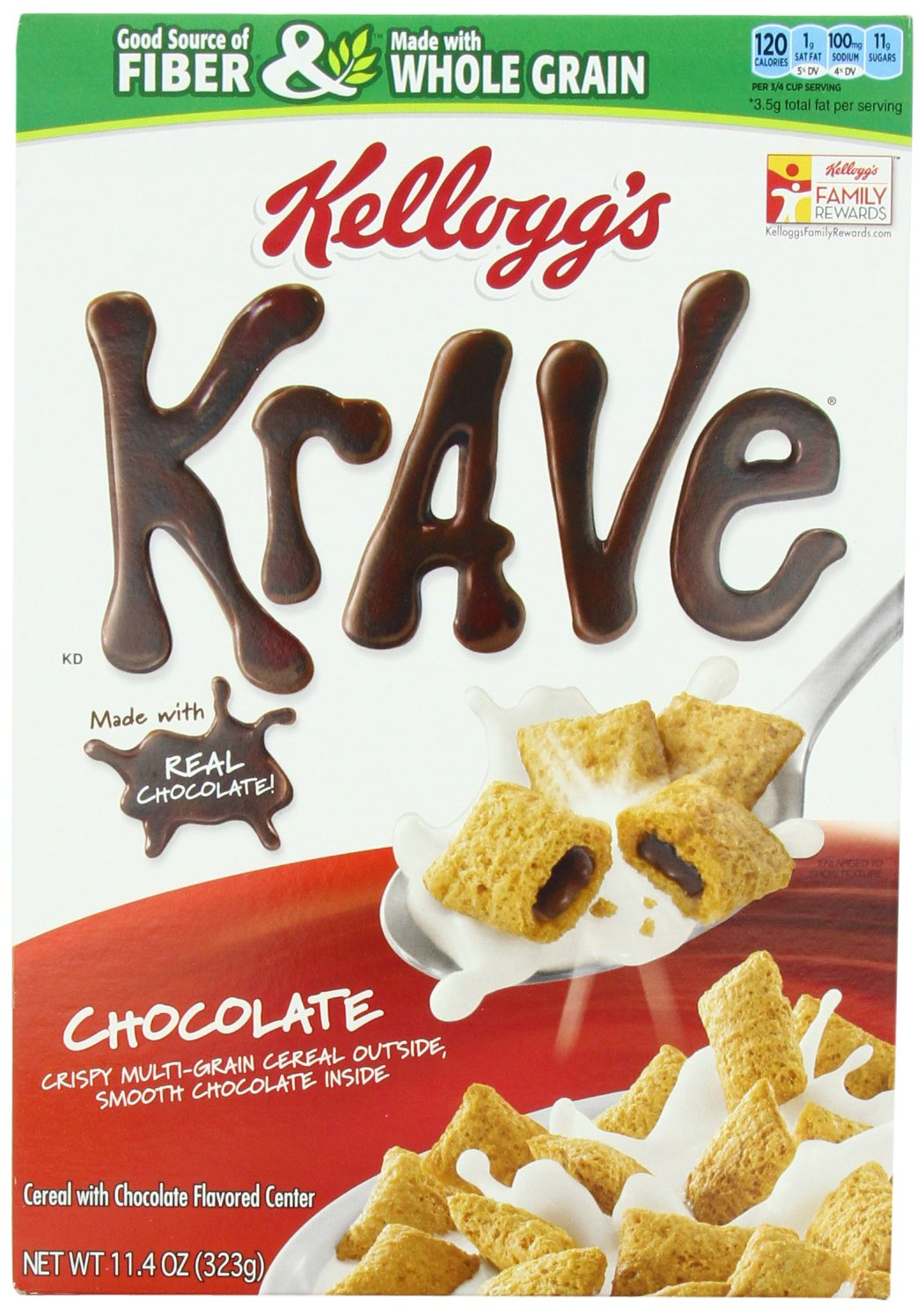 Kellogg's Krave Chocolate Cereal, 11.4-Ounce (Pack of 4): Amazon ...