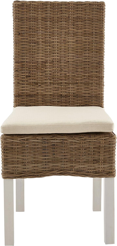 13Casa roxy a1 sedia dim beige. 56 * 46 * 97h cm legno massello//rattan