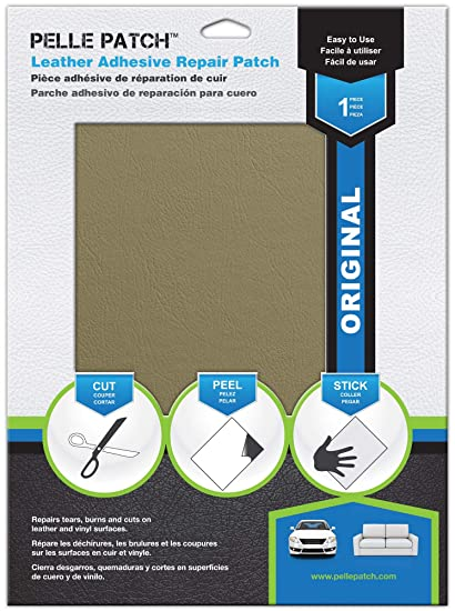 Pelle Patch - Leather & Vinyl Adhesive Repair Patch - 25 Colors Available - Original 11x16 - Beige-Yellow