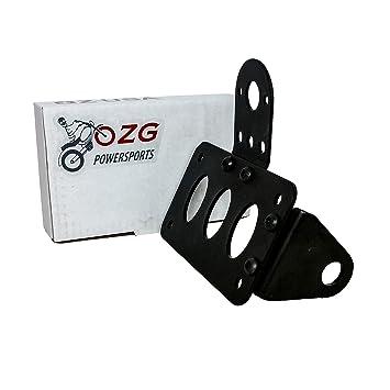Placa soporte de eje de la motocicleta Side Licencia Luz trasera superiores Custom Café: Amazon.es: Coche y moto