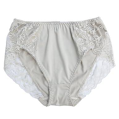 Farlenoyar Women Sexy Lace Milk Silk Smooth Summer Stretch Briefs Soft Underwear Panties (S,