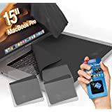 Clean Screen Wizard Microfiber Screen Keyboard Cleaner and Screen Protector Bundle 4 Pack 3 X-Large Cloths/Keyboard Covers & Microfiber Sticker for MacBook Pro 15- Laptops 15 Screen