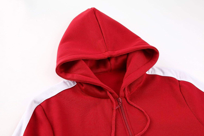7bdbab429 Amazon.com  Migue Red Zip Up Hoodies Fleece Sweatshirts Cosplay ...