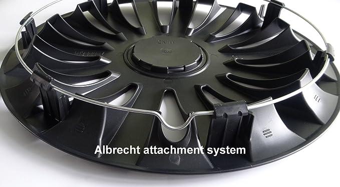 Albrecht Automotive 49235 Radzierblende Sail 15 Zoll 1 Satz Schwarz Plus Auto
