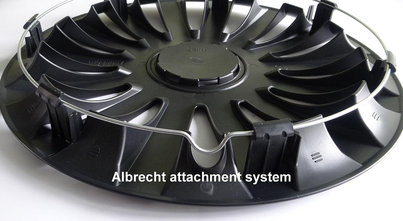 ALBRECHT automotive 09693 Radzierblende Wind 13 Zoll Schwarz 1 Satz