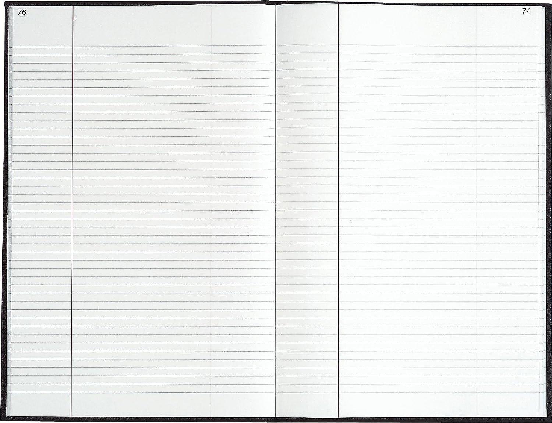 Das Delfin Notizbuch 500 Seiten foliotées foliotées foliotées 34 x 22,5 x 3 cm schwarz Gewebeband 18637d