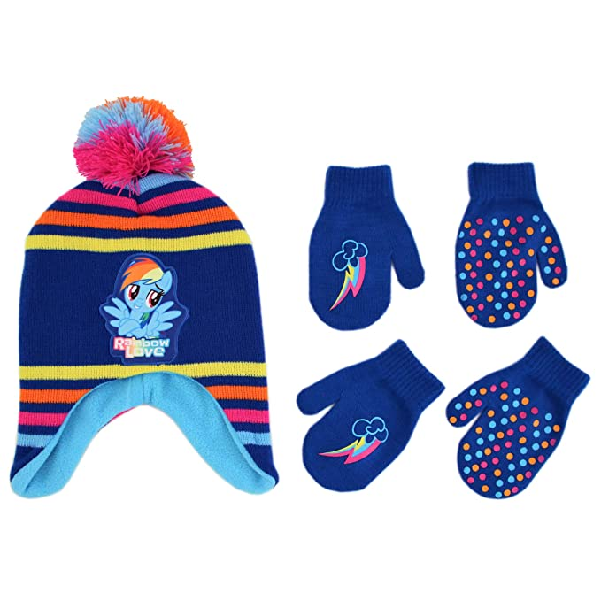637a0770c61 Hasbro My Little Pony Hat and 2 Pair Gloves or Mittens Cold Weather Set