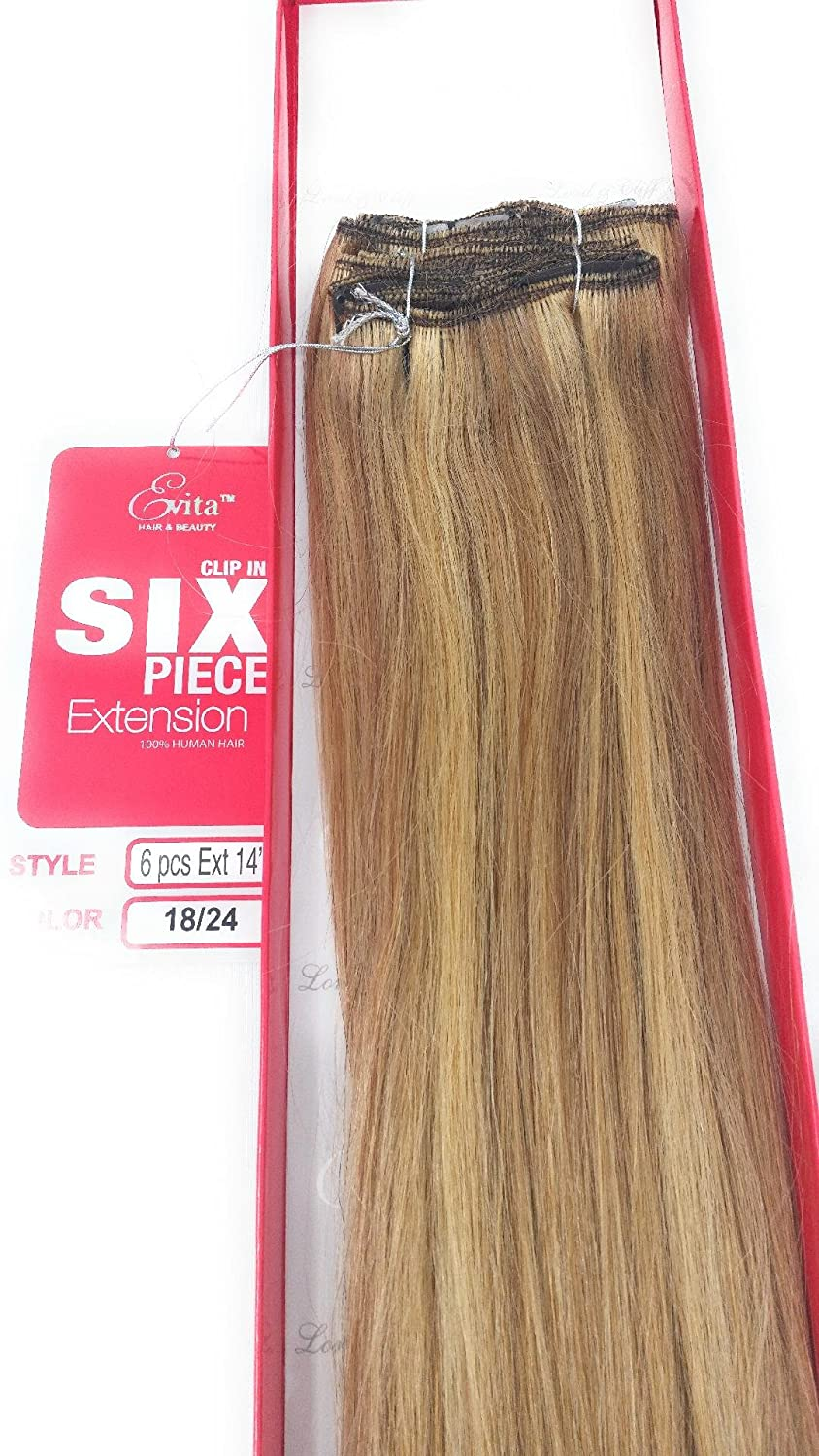 Amazon Lord Cliff Evita Six Piece Straight Human Hair Clip In