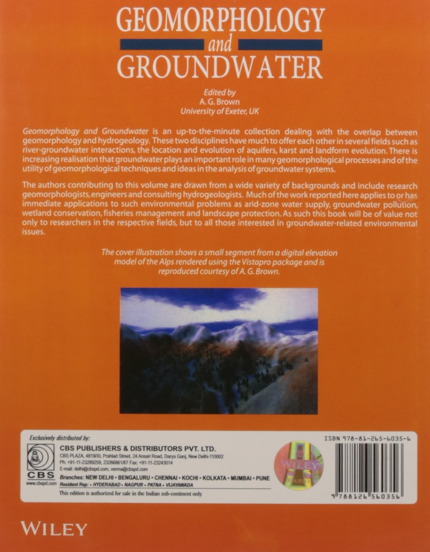 Geomorphology And Groundwater: Brown: 9788126560356: Amazon com: Books