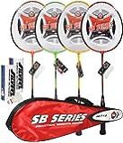 Silver's SB 719 Combo 2 Badminton Racquet - 7 Pieces