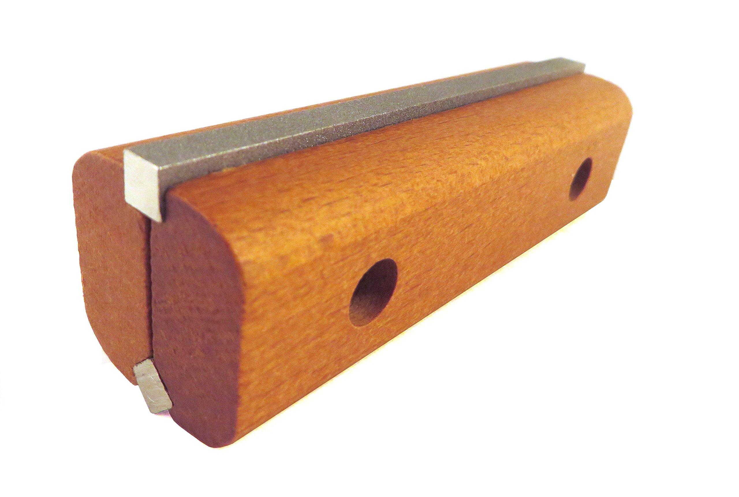 Jointer / Planer Blade Sharpener Diamond Knife Hone 300 and 600 grit in Wood Holder with Reversible Sharpening Stones KH-10D