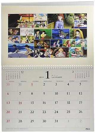 Studio Ghibli Art Frame Try-X Wall Calendario De Pared 2019 ...