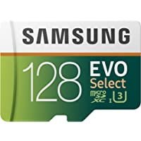Samsung EVO Select 128GB Class 10 600x microSDXC Memory Card with Adapter (MB-ME128GA/AM)