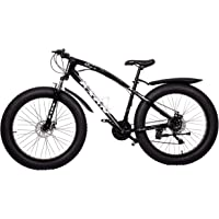 AXAN Fat Bicycle with Dual Disc Breaks 21 Shimano Gears 26X4 Inch Tyres (1 Year Frame Warranty)