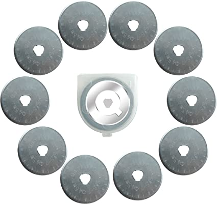 10x Titanium Coated 45mm Rotary Cutter Blades Cutting Quilting for OLFA fiskars