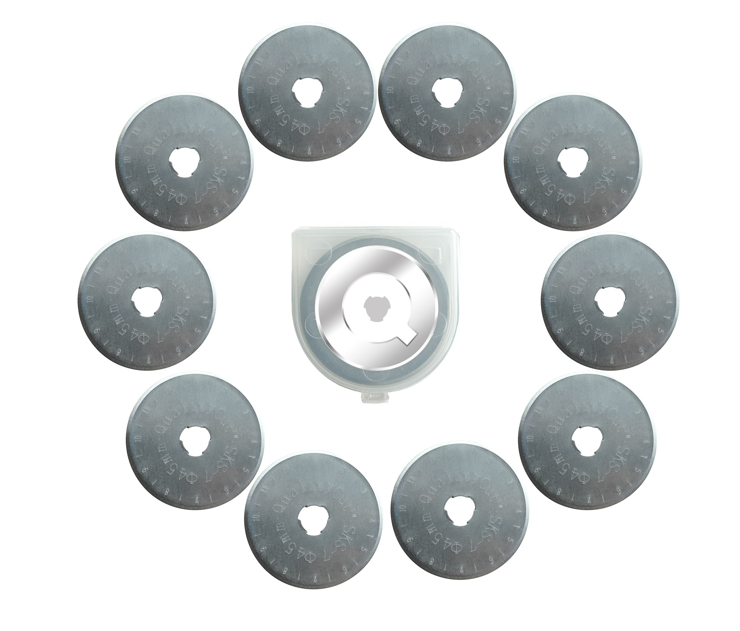 QualityCut 10x 45mm Rotary Cutter Refill Blades by QualityCut