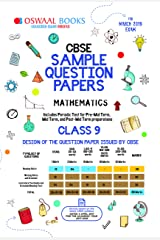 Oswaal CBSE Sample Question Paper Class 9 Mathematics (For March 2019 Exam) Kindle Edition