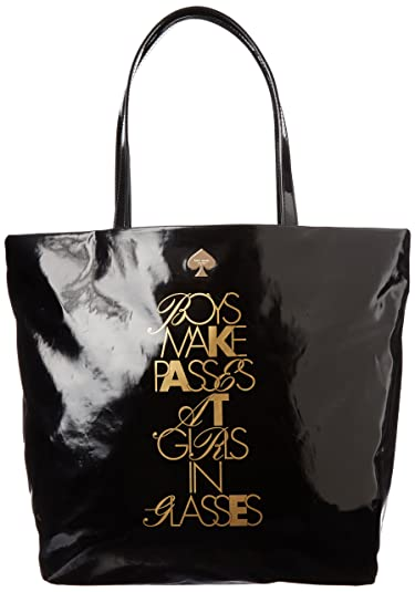 32c242f6c Amazon.com: kate spade new york Required Reading Bon Shopper PXRU4507 Tote,Boys  Make Passes At Girls In Glasses,One Size: Clothing