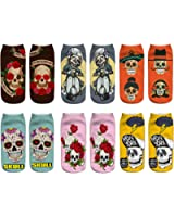 Danial Women Girls Funny Novelty 3D Animals Dapper Pattern Ankle Socks Value Pack