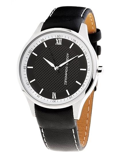 58ddbdf51a96 Adolfo Dominguez Watches 68003 - Reloj de Caballero cuarzo correa piel  Negra  Amazon.es  Relojes