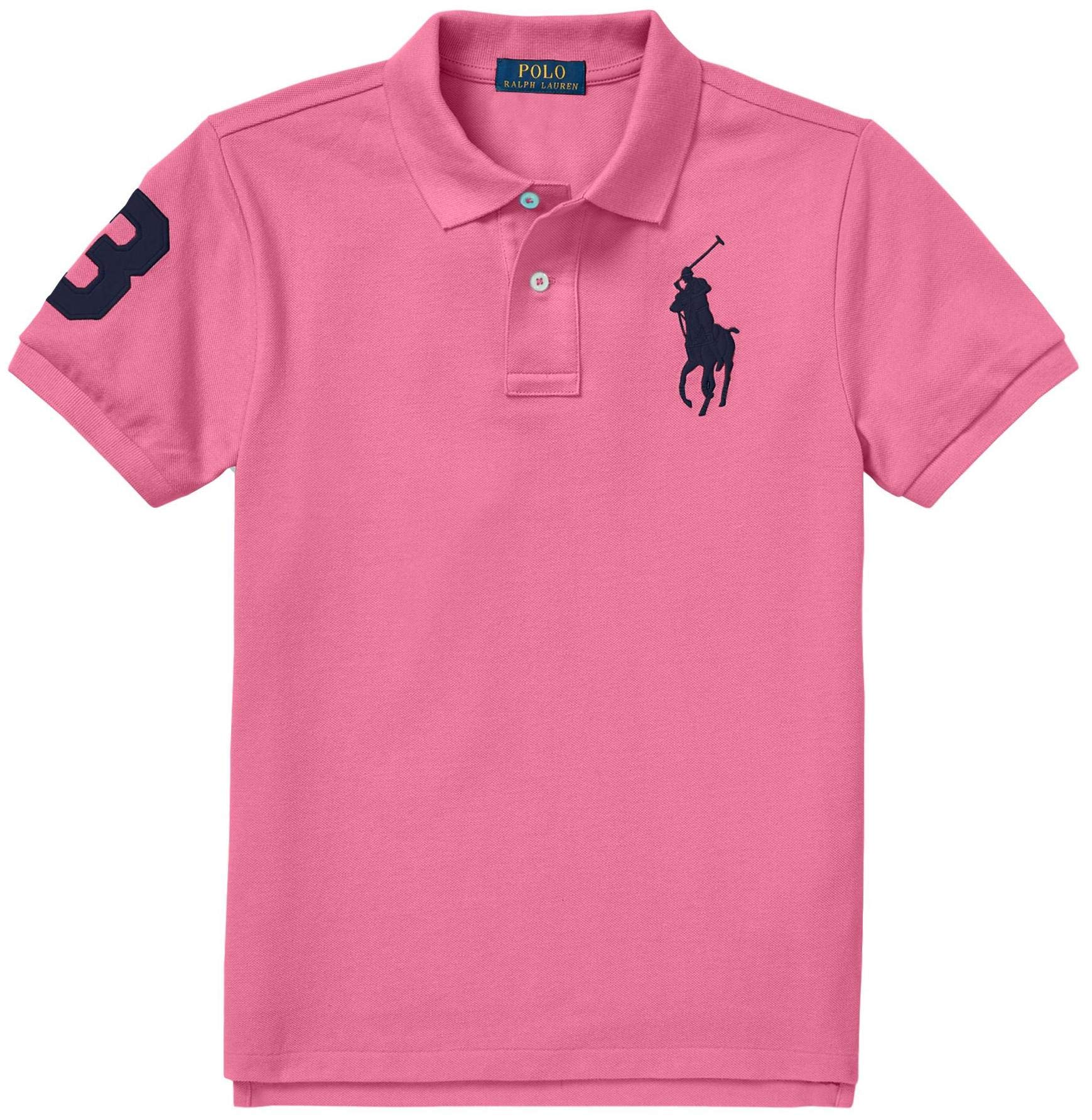 Polo Ralph Lauren Boys Big Pony Mesh Polo Shirt (XL (18-20), MauiPink)