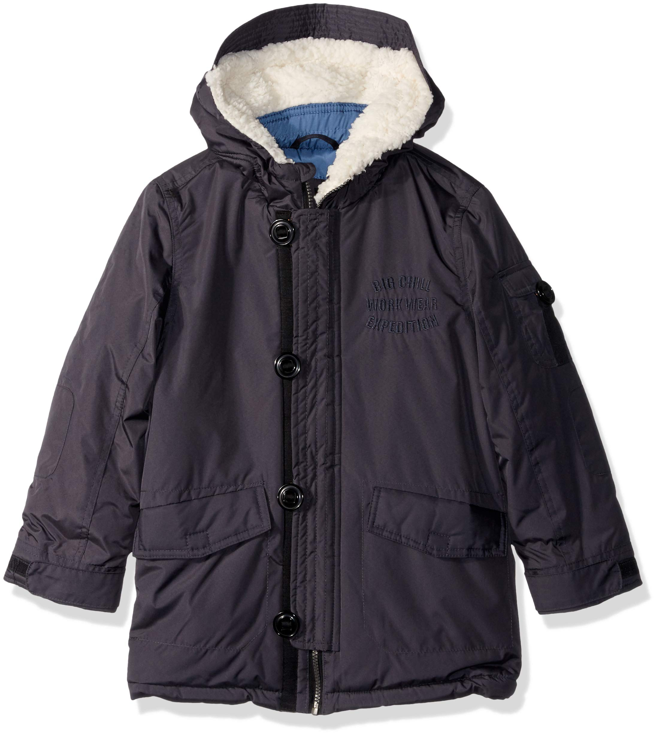 Big Chill Boys' Big' Expedition Jacket, Charcoal, 10/12