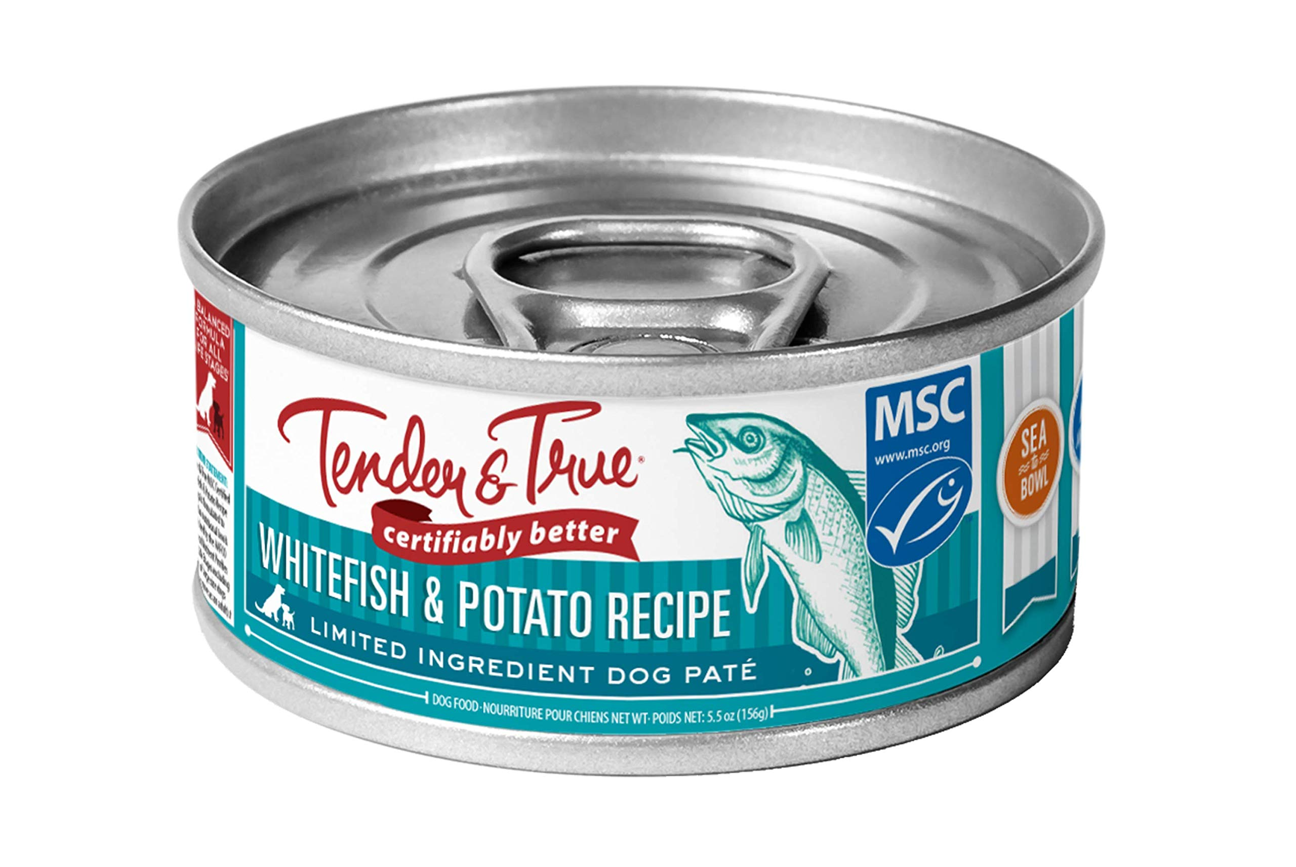 Tender & True Ocean Whitefish & Potato Recipe Canned Dog Food, 5.5 oz, Case of 24 by Tender & True Pet Nutrition