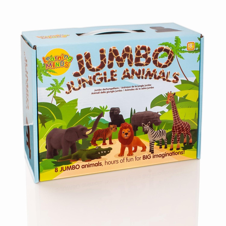 18 Months Learning Minds Set of 8 Jumbo Jungle Animal Figures