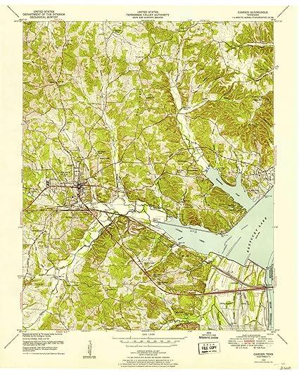 Amazon.com : YellowMaps Camden TN topo map, 1:24000 Scale, 7.5 X 7.5 on